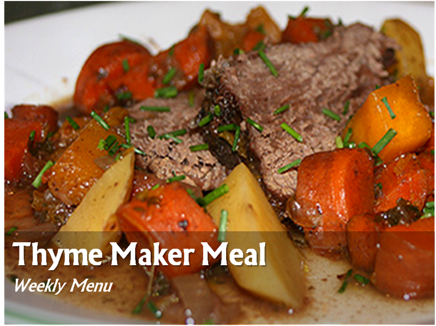 TMM Menu: Week of 07.14.14 - Just In Thyme Foods